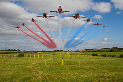 Photograph -  Red Arrows Running In At Brize by Ken Brannen