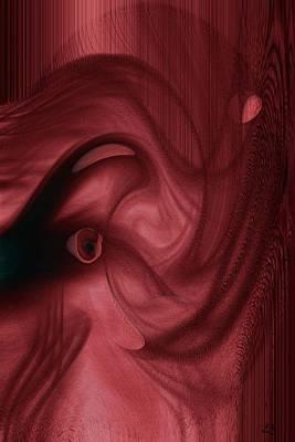 Red Elephant  Art Print by Linda Sannuti