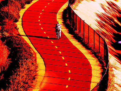 Photograph -  Red Path  by John King