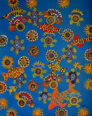 Mixed Media -  Reef Treasures by Bob Craig