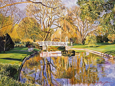 Reflections Of The White Bridge Art Print by David Lloyd Glover