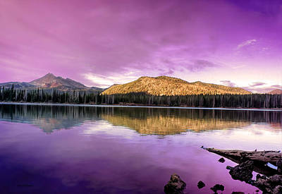 Photograph -  Reflections On Sparks Lake by Tyra OBryant