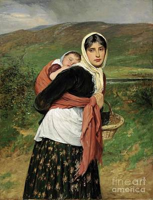 Charles Sillem Lidderdale Painting -  Returning From Market  by MotionAge Designs