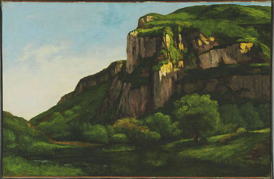 Landscape Painting -  Rocks At Mouthier by Gustave Courbet