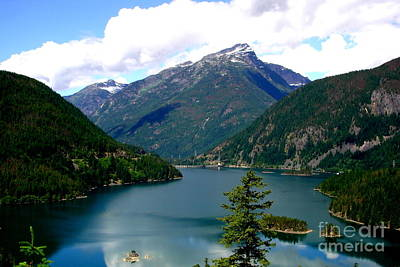 Ross Lake In The North Cascades Print by Tanya  Searcy