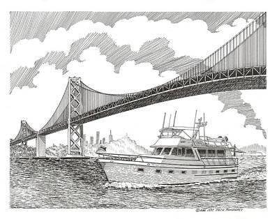 Word Signs -  San Francisco Oakland Bay Bridge yachting by Jack Pumphrey