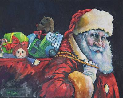 Painting - ' Santa 2015 ' by Kevin McKrell