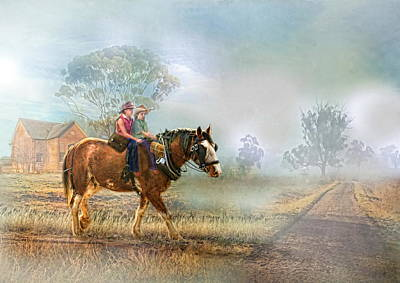 Country Schools Digital Art -  Schools Out by Trudi Simmonds