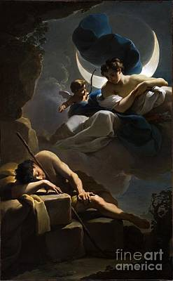 Endymion Painting -  Selene And Endymion by Celestial Images
