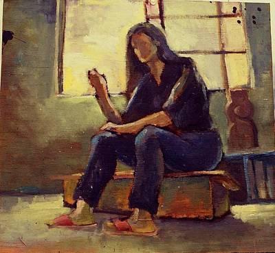 Self-portrait Mixed Media -  Self-portrait by Lu-d Huang