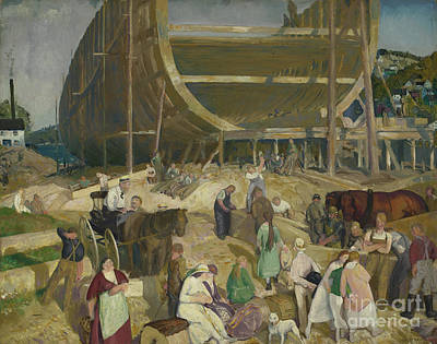 Shipyard Painting -  Shipyard Society by MotionAge Designs