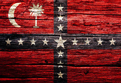 The Trees Mixed Media -  South Carolina Sovereignty Secession Flag 4w by Brian Reaves