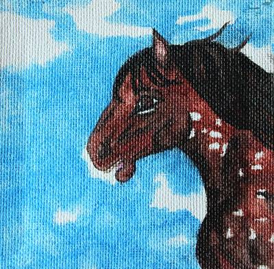Painting -  Spirit Of The Appaloosa by Amy Gallagher