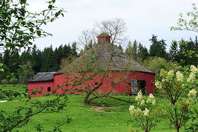 Photograph -  Spring At The Round Barn by Ansel Price
