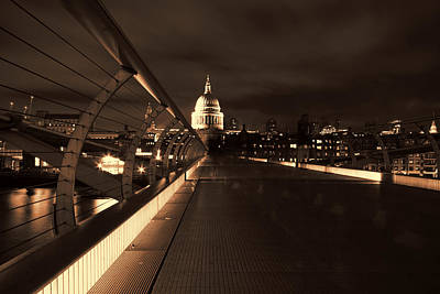 Photograph -  St Pauls Cathedral At Night St Pauls Cathedral At Night by Ken Brannen