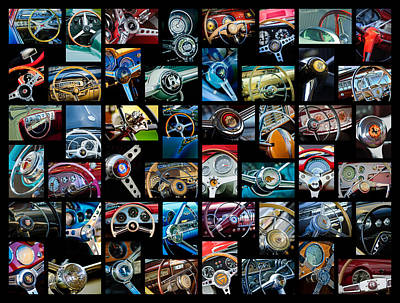 Photograph -  Steering Wheel Art -02 by Jill Reger
