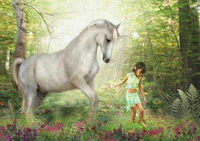Stella And The Unicorn Art Print