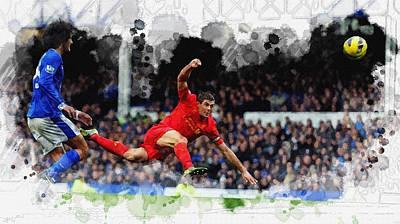 Steven Gerrard Of Liverpool Original by Don Kuing
