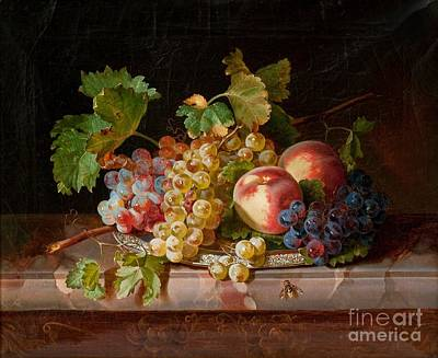 Life Painting -  Still Life With Fruit by Celestial Images
