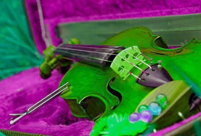 Dandelion Digital Art -  Still Life With Violine by Dagmar Batyahav