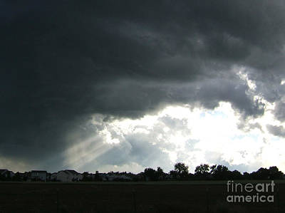 Storm Cloud  Over Westminster Art Print by Nancy Rucker