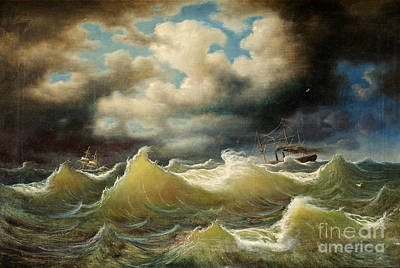 Stormy Sea Painting -  Stormy Sea by Celestial Images