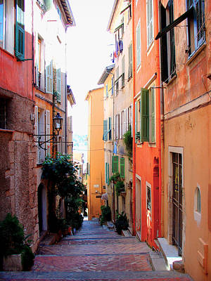 Streets Of Villefranche  Art Print by Julie Palencia