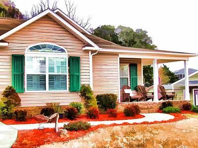Swansboro Painting -  Suburban Home  by Lanjee Chee