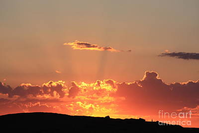 Art Print featuring the photograph  Sunset by Edward R Wisell