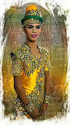 Photograph -  Thai Culture Dressed Entertainer by Ian Gledhill