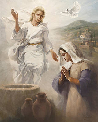 The Annunciation Original by Yanko Yanev