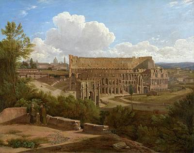 Hill Painting -  The Arch Of Constantine And The Colosseum, Seen From The Palatine Hill by Gaspare Gabrielli