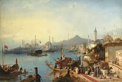 The Arrival Of Sultan Abdulmecid At The Nusretiye Mosque Art Print