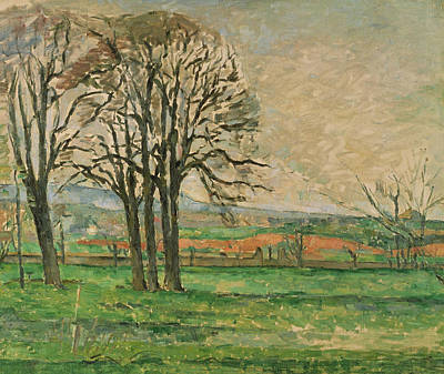 Bare Trees Painting -  The Bare Trees At Jas De Bouffan  by Paul Cezanne