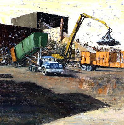 The Blue Truck Art Print by Nancy Albrecht