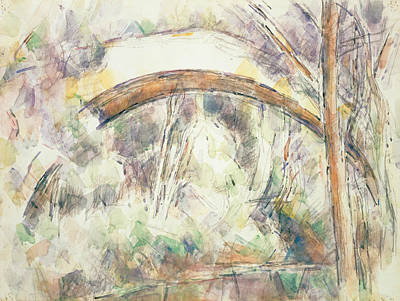 Painting -  The Bridge Of Trois Sautets  by Paul Cezanne