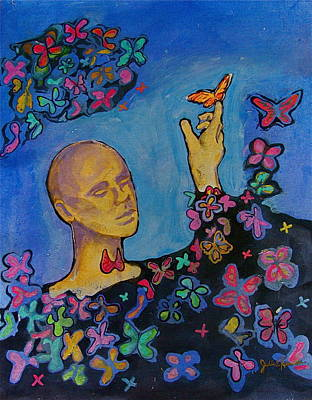Painting -  The Butterfly Cycle by Julie Komenda