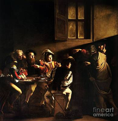 Art Print featuring the painting  The Calling Of Saint Matthew by Caravaggio