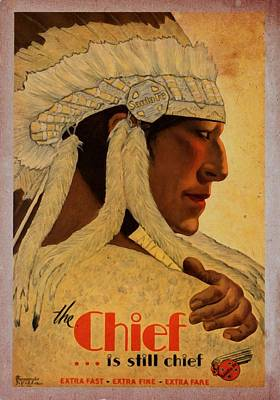 The Chief Train - Vintage Poster Vintagelized Art Print