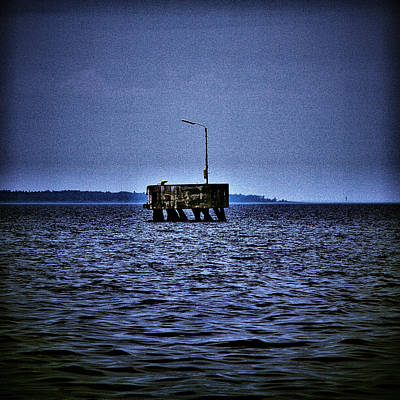 Print featuring the photograph  The Dock Of Loneliness by Jouko Lehto