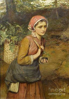 Charles Sillem Lidderdale Painting -  The Fern Gatherer  by MotionAge Designs