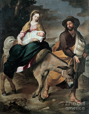 Donkey Painting -  The Flight Into Egypt by Celestial Images