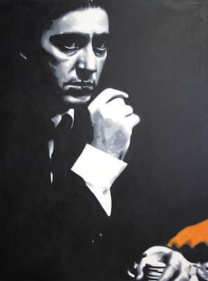 Painting - - The Godfather - by Luis Ludzska