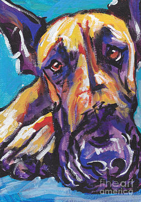 Great Dane Painting -  The Great Danish by Lea S