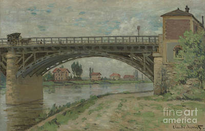 Painting -  The Highway Bridge Viewed From The Port by Celestial Images