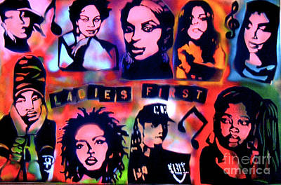 Free Speech Painting -   The Ladies First by Tony B Conscious