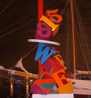 Evening Digital Art -  The Night Sail by Art Spectrum