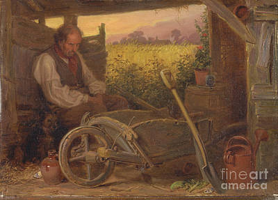 Briton Riviere Painting -  The Old Gardener by Celestial Images