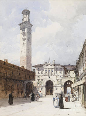 The Piazza Dante Verona Art Print by MotionAge Designs