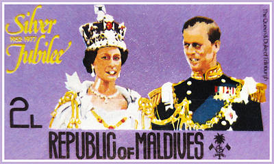 Queen Elizabeth Ii Painting -  The Queen And Duke Of Edinburgh by Lanjee Chee